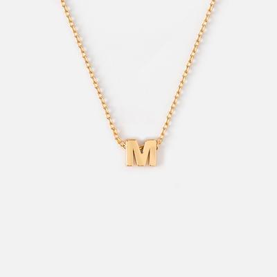 Orelia Alphabet Necklace Gold