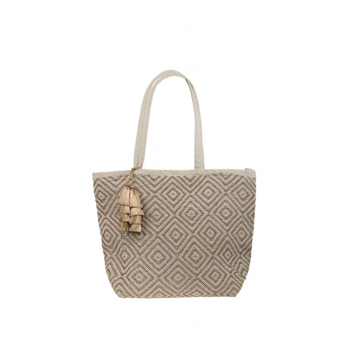 Beach Bag - Ashiana Mykonos Gold/Natural