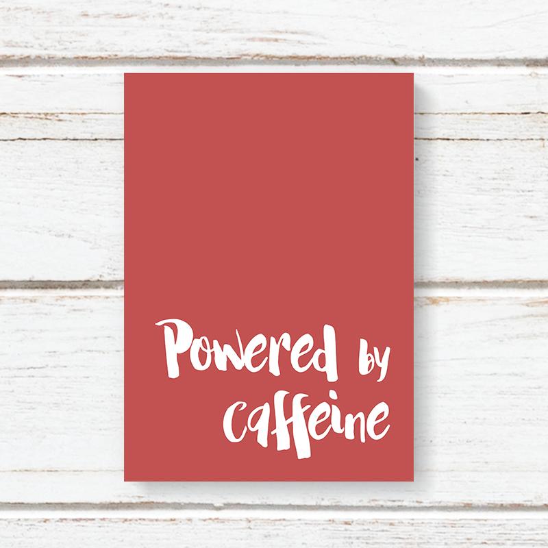 Notebook Jotter Dandelion - Powered By Caffeine 5801