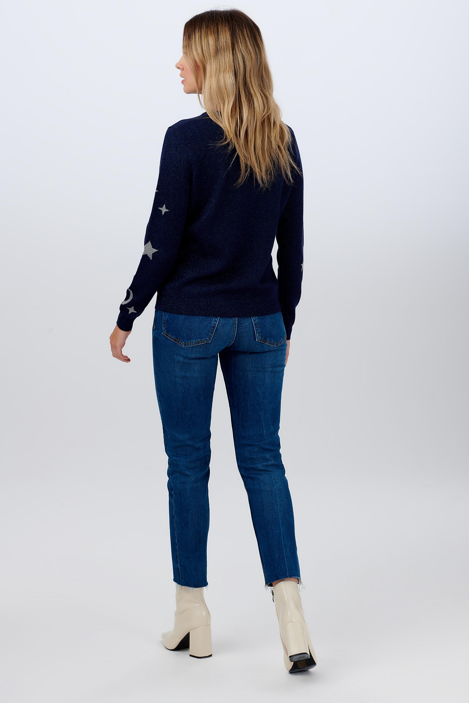 Sugarhill Brighton - Rowena moonlight Sweater Navy - WAS  £49