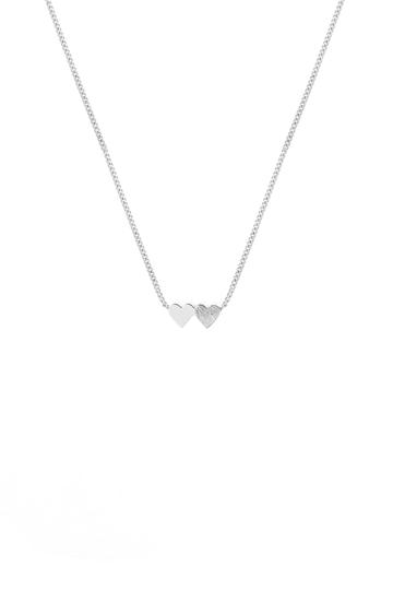 Tutti Necklace Connect Double Heart - Silver
