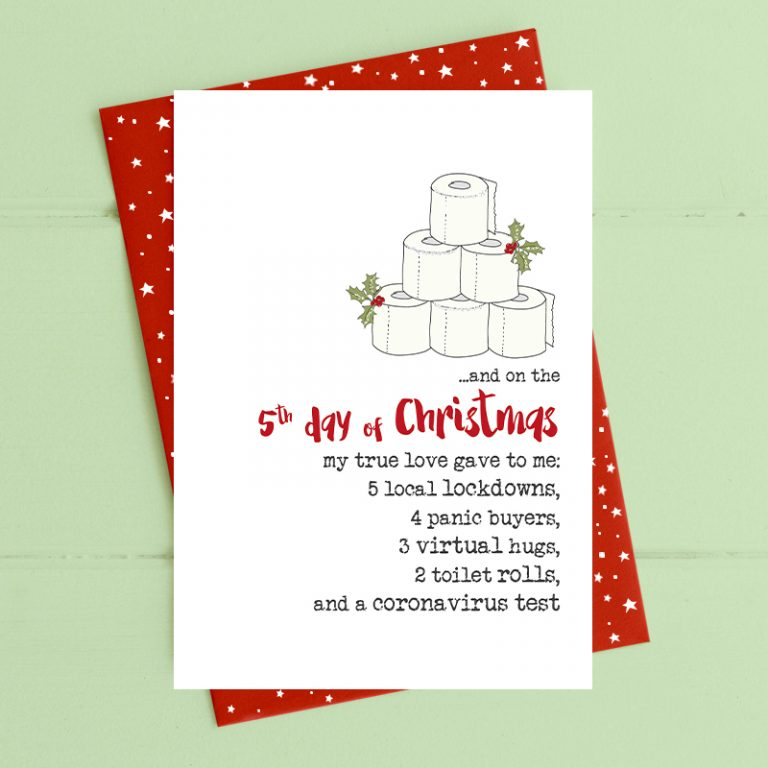 Christmas Card Dandelion - 12 Days of Christmas CVC 05