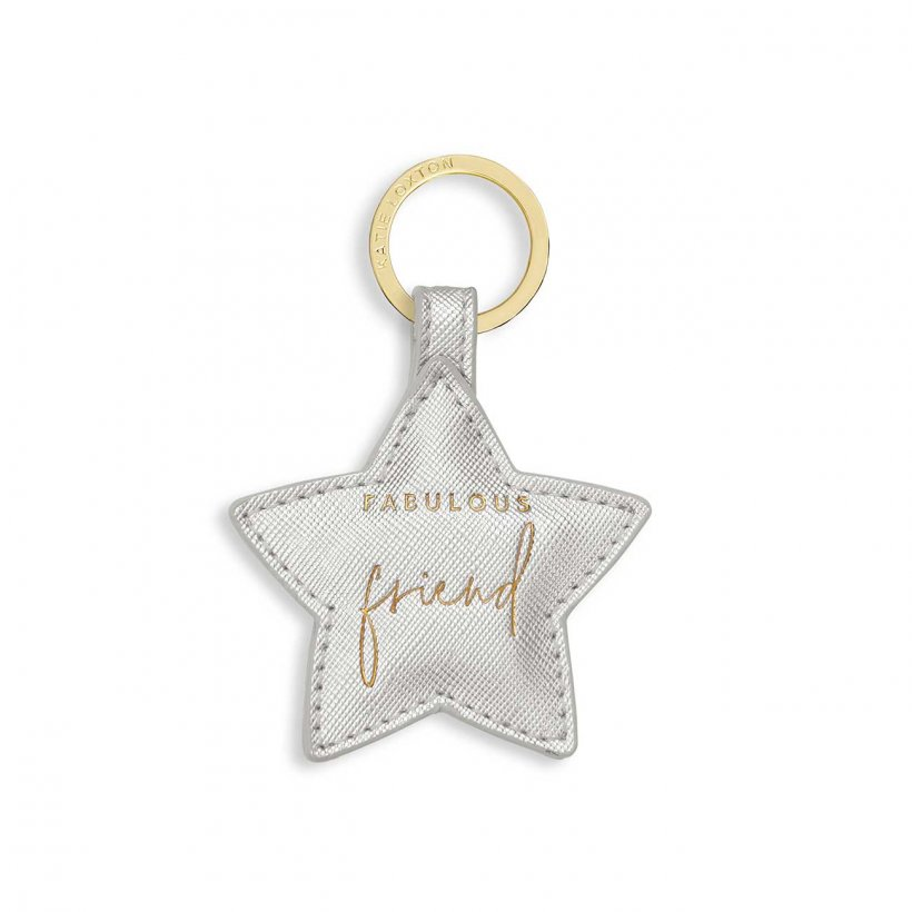 Katie Loxton Keyring - 'Fabulous Friend' Silver Star Boxed