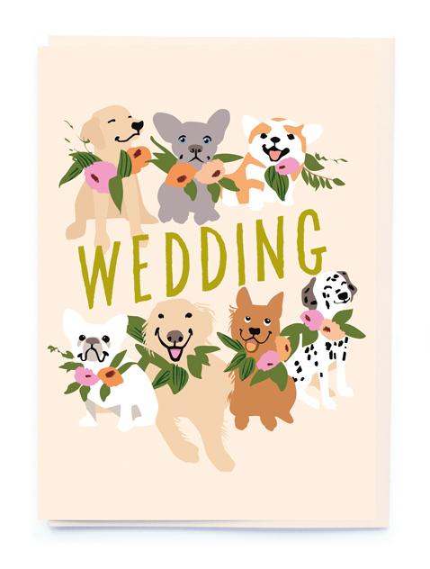 Card Wedding Noi - Wedding Dogs BW017