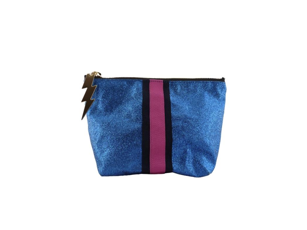 Cockatoo Glitter Bag - Blue Small