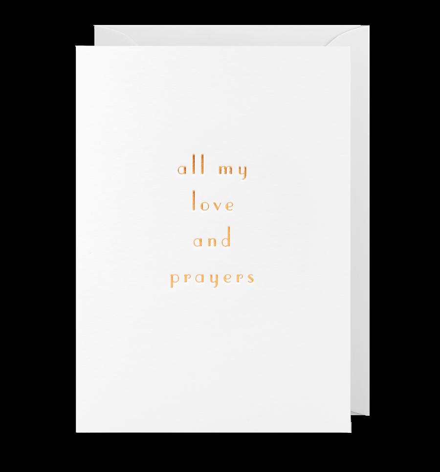 Card Sympathy Lagom- All My Love and Prayers 1977