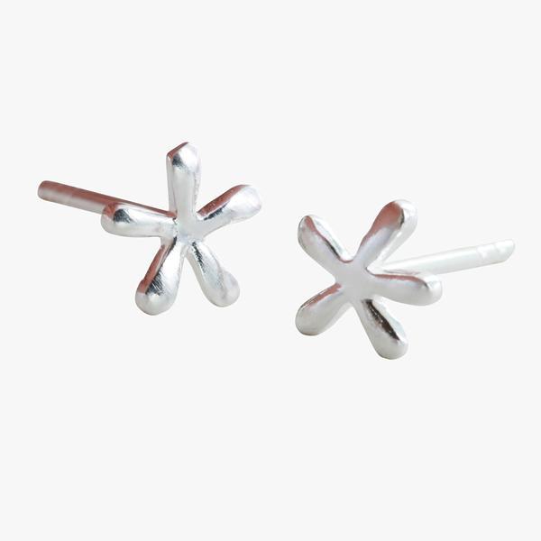 Stud Earrings Petal - Silver BB22S