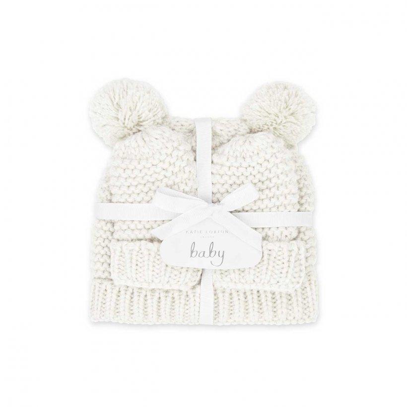 Katie Loxton Baby Hat & Mittens Set 0-6 Months White