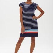 Sugarhill Brighton - Odette Dress Coastal Stripe Navy