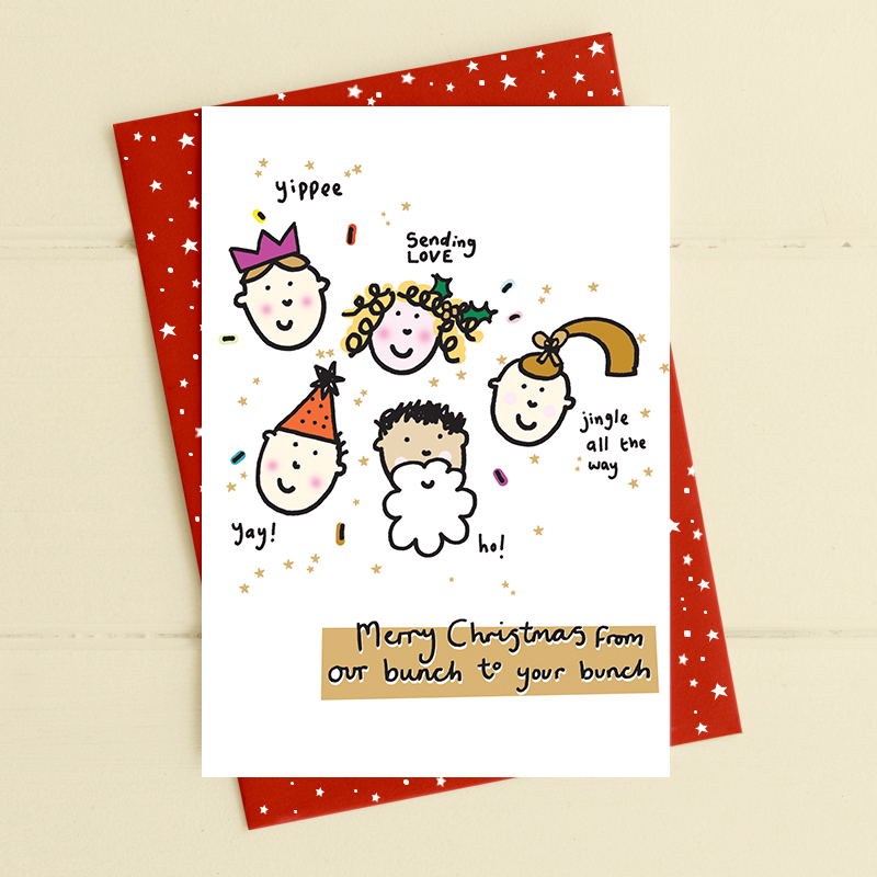 Christmas Card Dandelion- Our Bunch To Your Bunch CAB8611