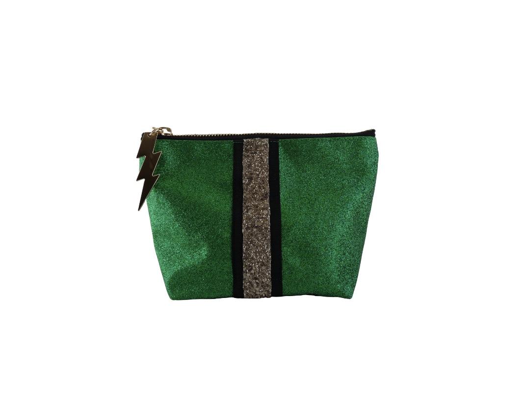 Cockatoo Glitter Bag - Green Small
