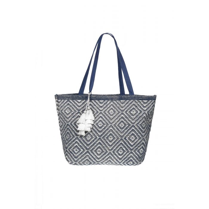 Beach Bag - Ashiana Mykonos Navy/Silver