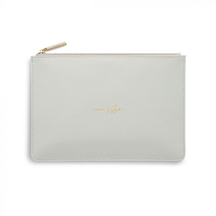 Katie Loxton Perfect Pouch - 'Super Sister' Grey