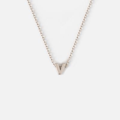 Orelia Alphabet Necklace Silver