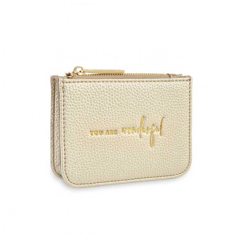 Katie Loxton Coin Purse Structured - You Are Wondeful Gold
