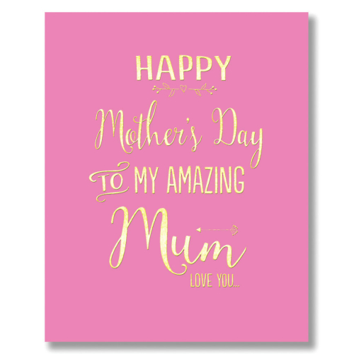 Card Mother's Day Bluebell - Amazing Mum GD067