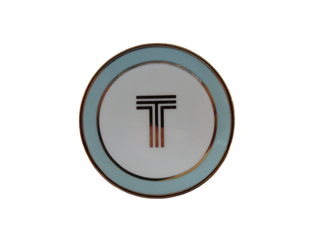 Bombay Duck Alphabet Trinket Dish - T