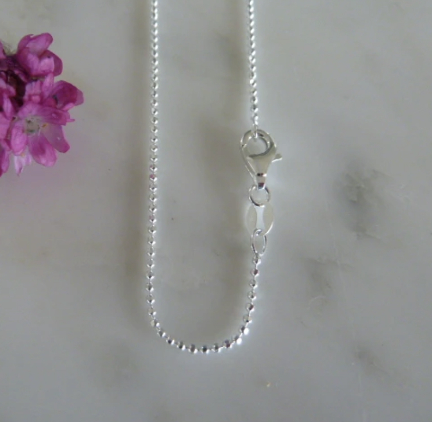 Necklace - Marlene Hounam Silver Facetted Ball Chain - Various Lengths