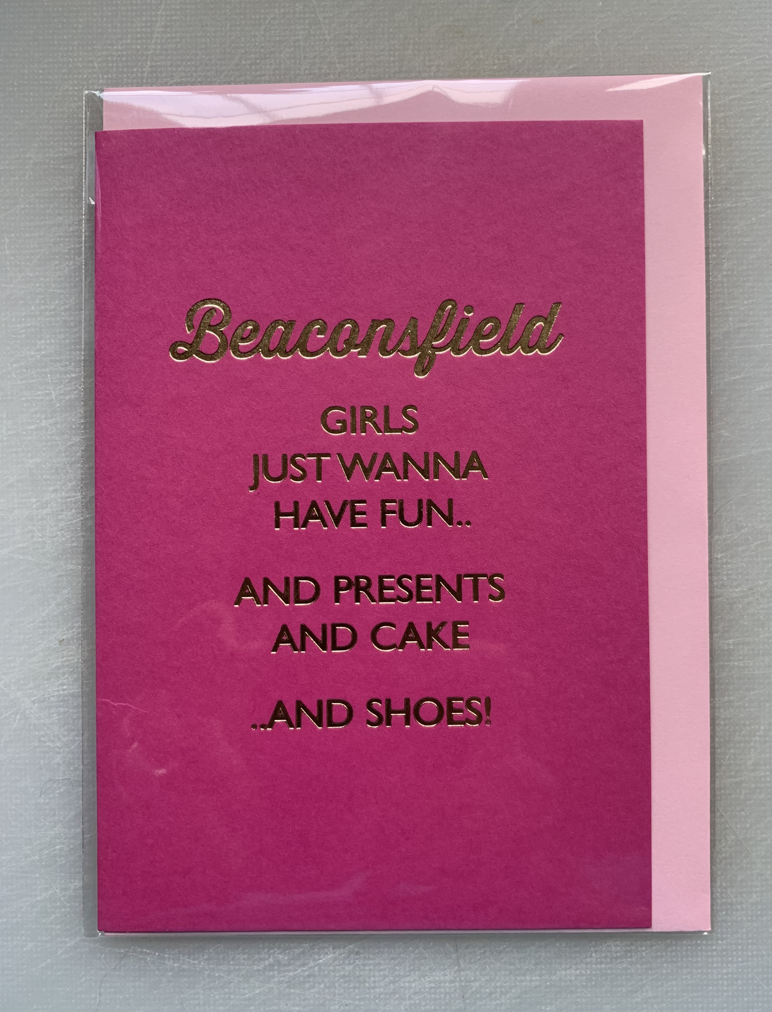Card Female Bluebell - Girls Wanna Have Fun BF D237