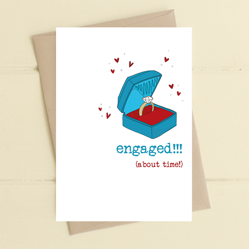 Card Engagement Dandelion - Engaged (About Time!) 714