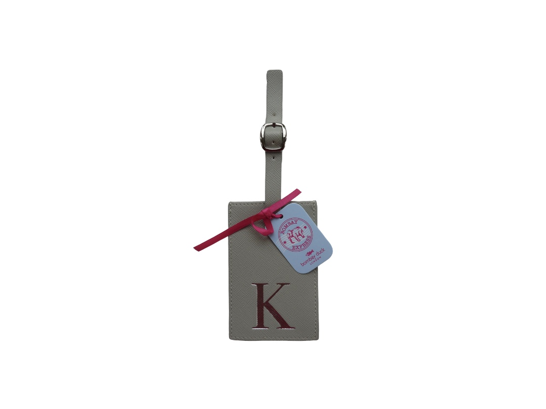 Bombay Duck Alphabet Luggage Tag - K