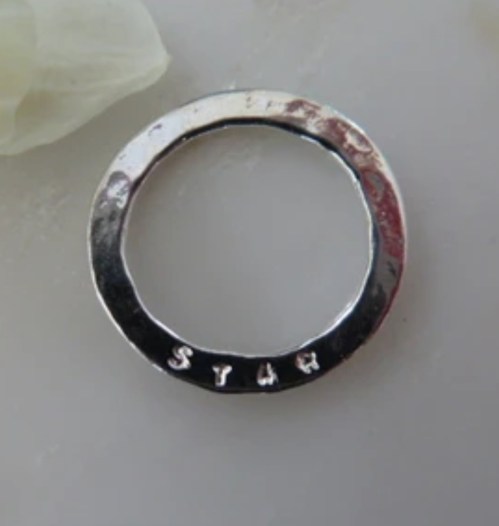 Marlene Hounam Sentiment Disc Sterling Silver - Various Sentiments