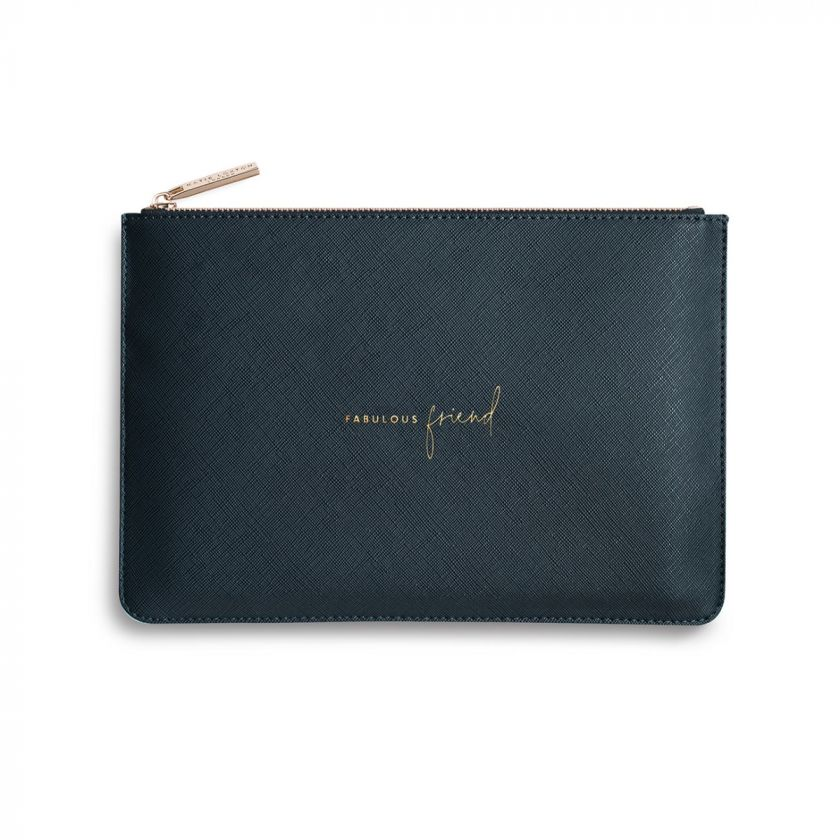 Katie Loxton Perfect Pouch - 'Fabulous Friend' Navy