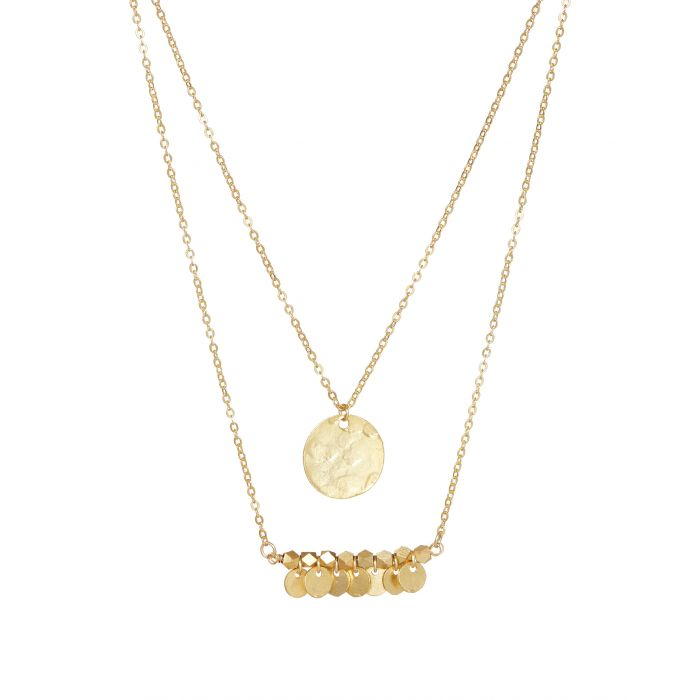 Ashiana Necklace - Greek Island Gold plated