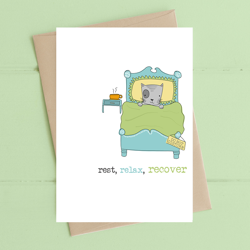 Card Get Well Dandelion - Rest Relax Recover 718