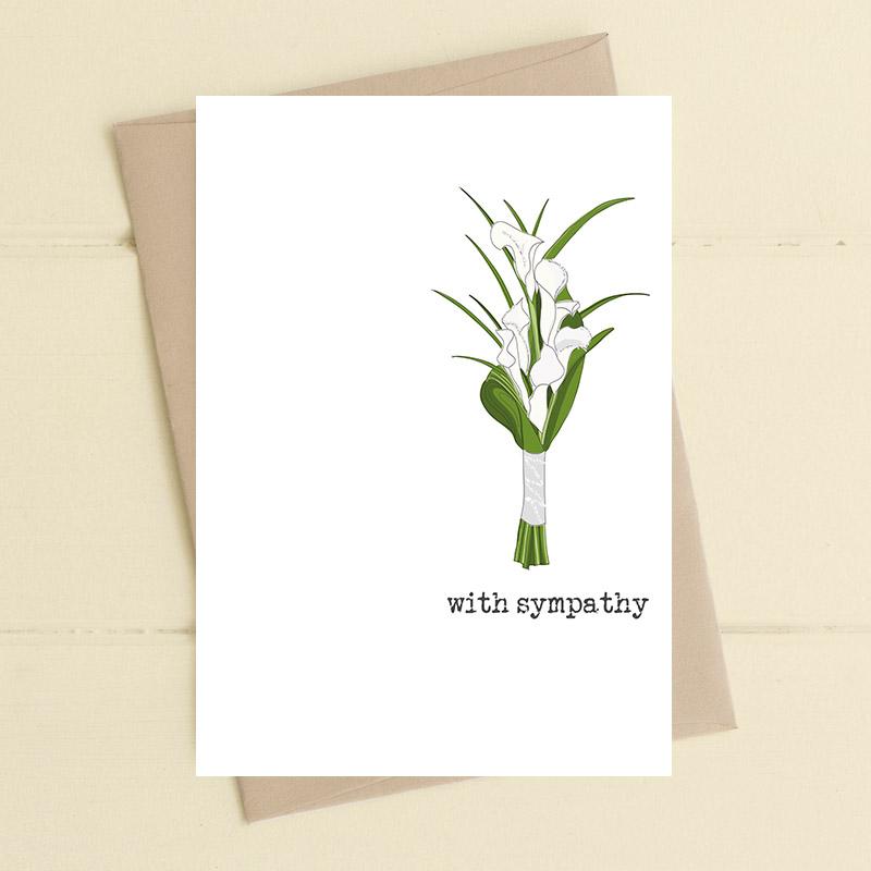 Card Sympathy Dandelion With Sympathy Lilies 620