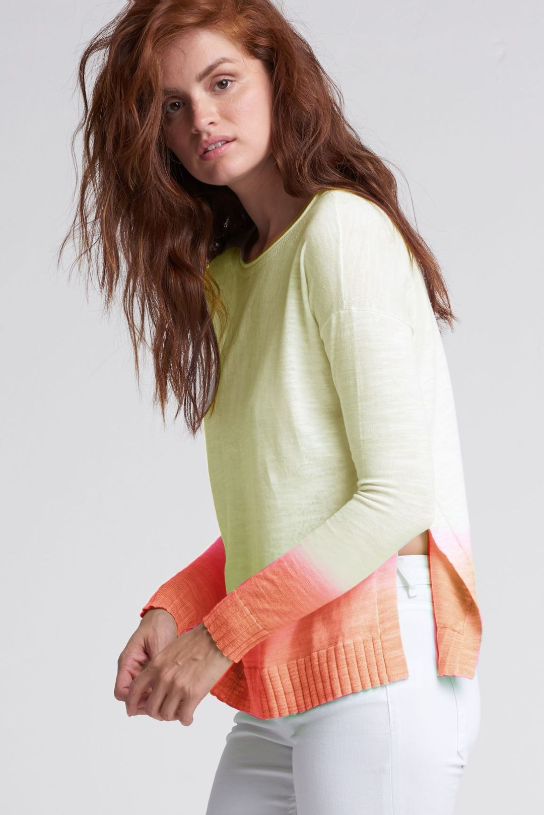 Lisa Todd Sweater - Dipped Lemongrass