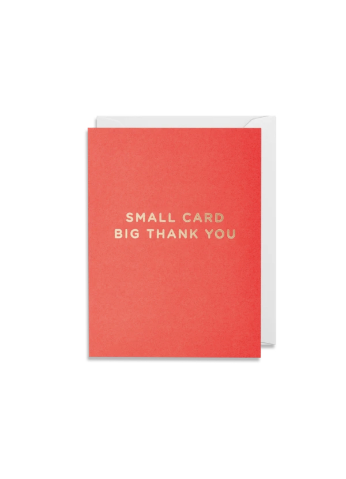 Card Thank You Lagom Mini Card -Small Card Big Thank you Red 4150