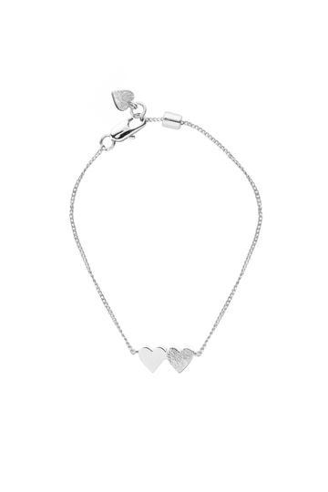 Tutti Bracelet Connect Double Heart - Silver