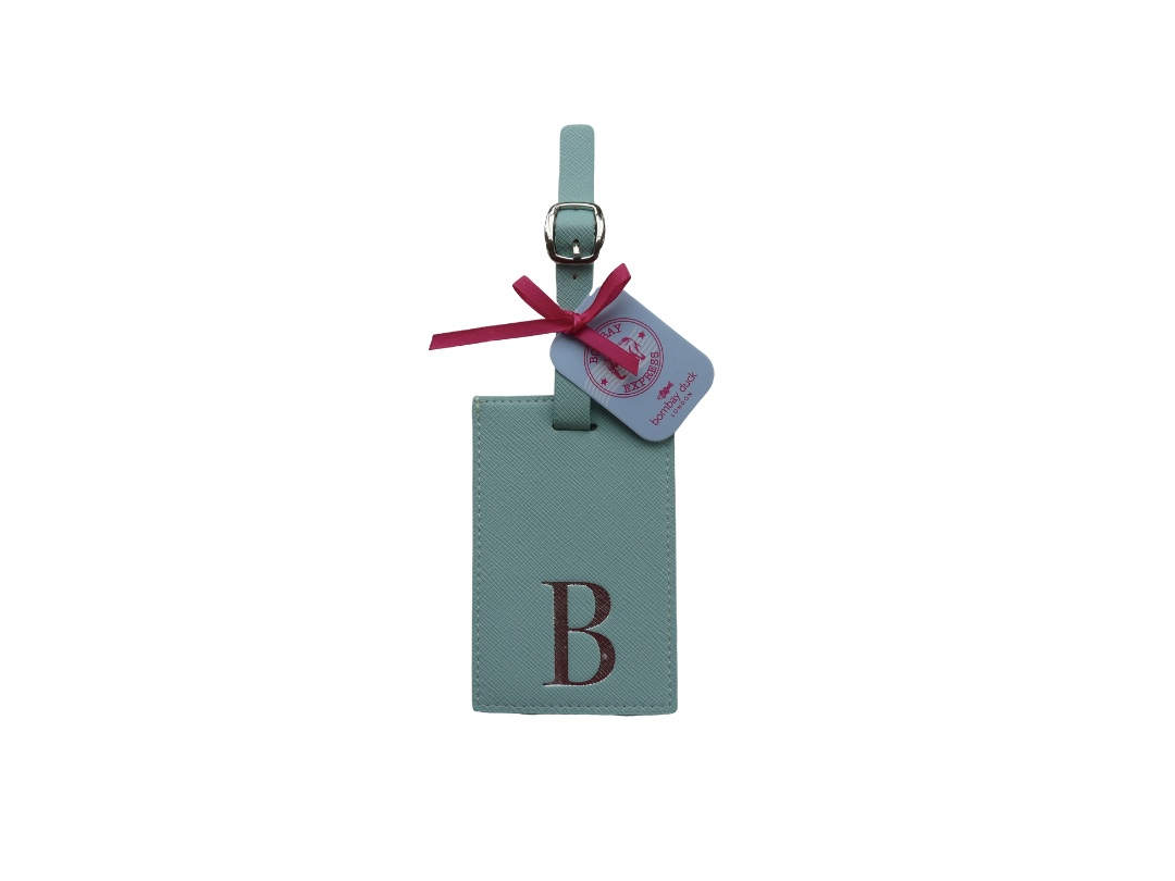 Bombay Duck Alphabet Luggage Tag - B