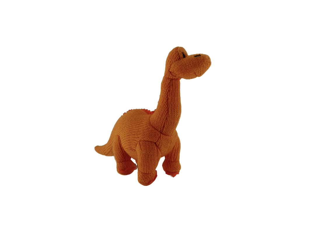 Dinosaur Rattle - Diplodocus Orange