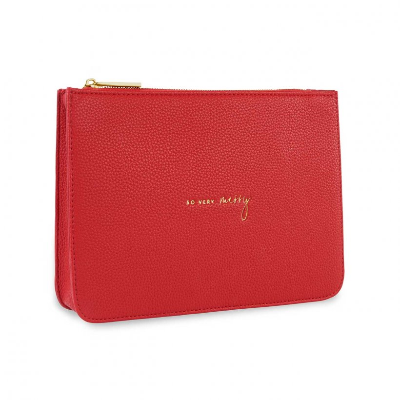 Katie Loxton Structured Pouch - So Very Merry Red
