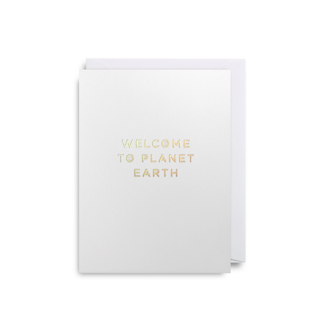 Card Baby Unisex - Welcome to Planet Earth - Lagom 4079