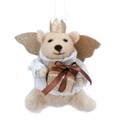 Gisela Graham Christmas Decoration Felt - Teddy Angel with Parcel 17914