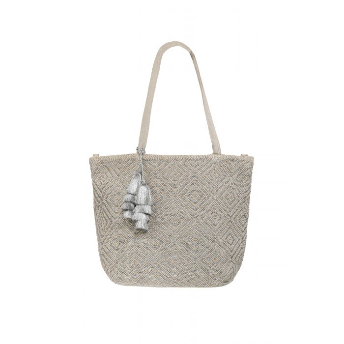 Beach Bag - Ashiana Mykonos Silver/Neutral