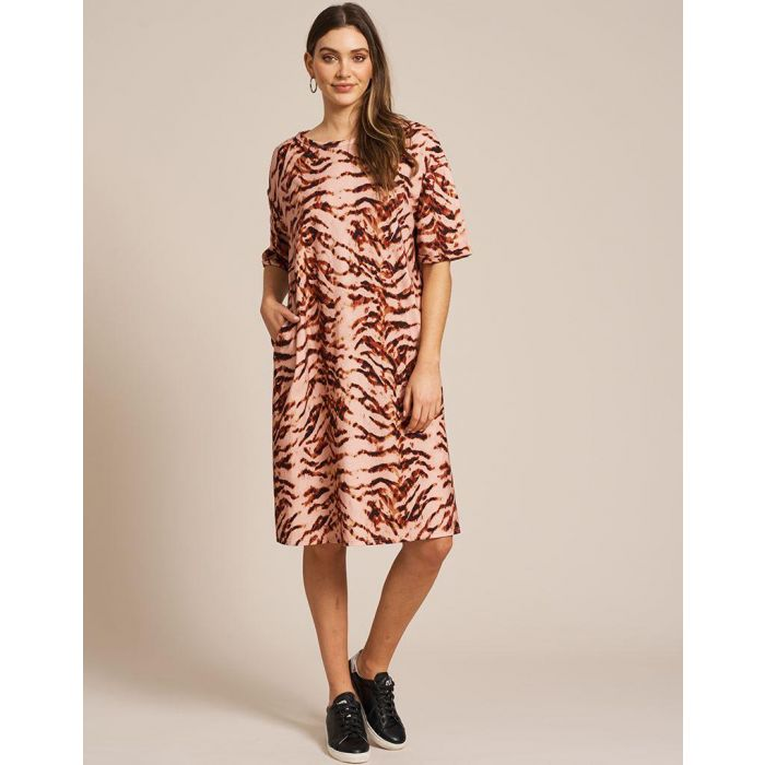 SALE Eb&Ive Rosa Tank Dress - Ochre WAS £55