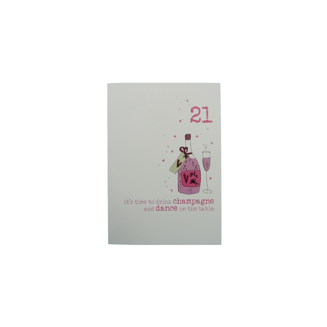 Card Age 21 Female - Champagne - Dandelion 161-21
