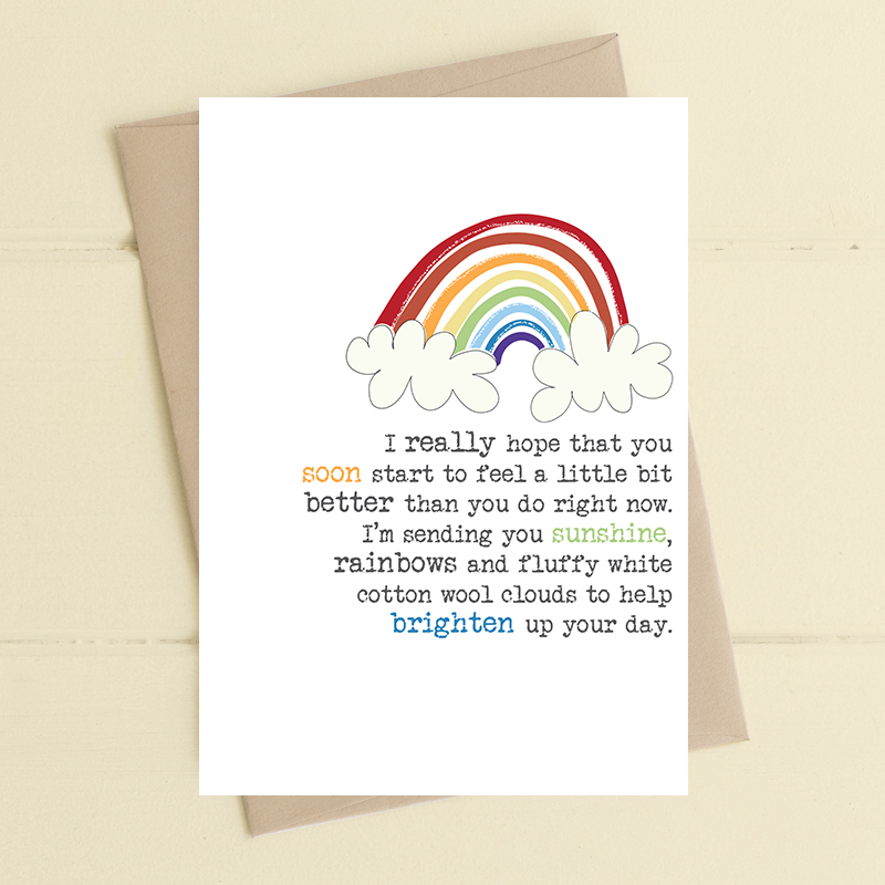 Card Get Well Dandelion - Sunshine & Rainbows 663