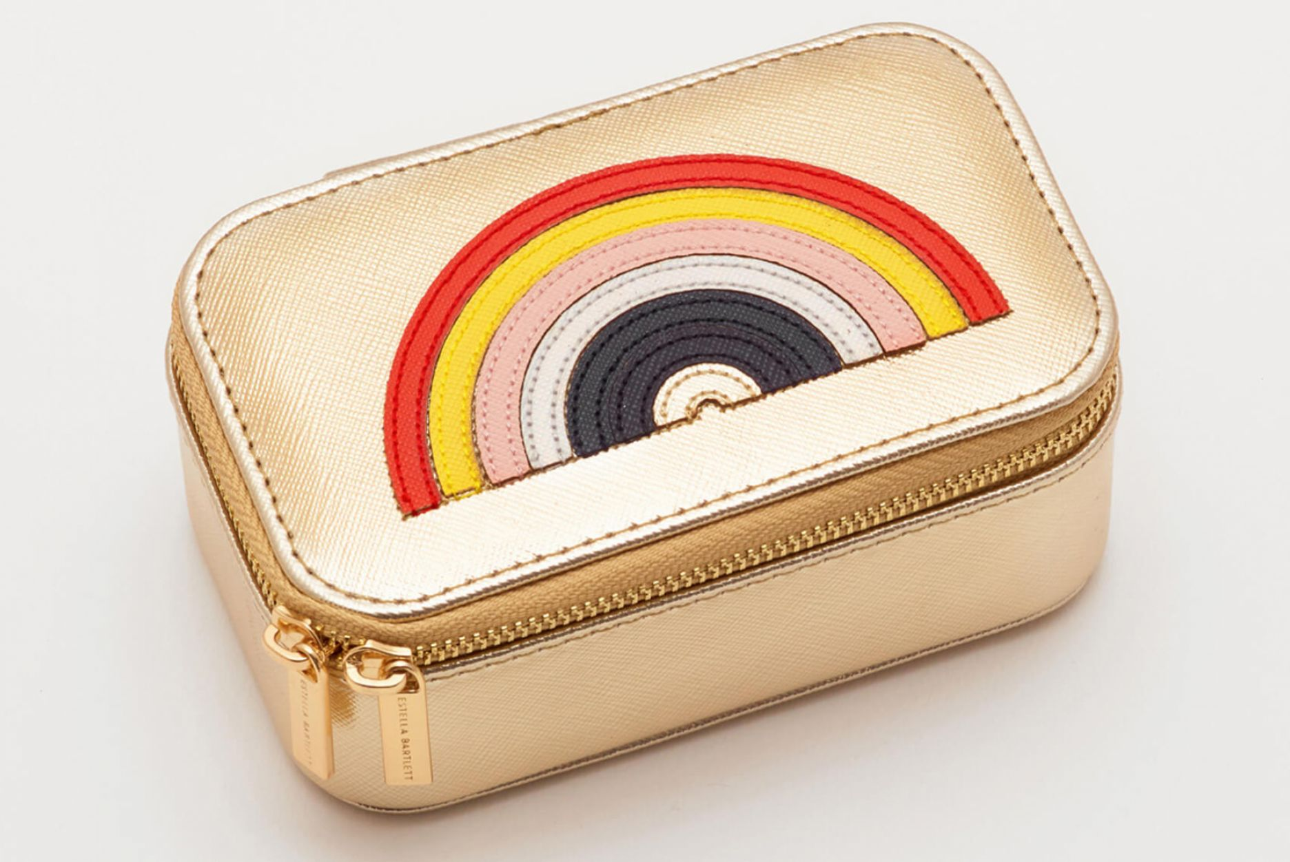Estella Bartlett Jewellery Box Mini - Applique 'RAINBOW' Gold