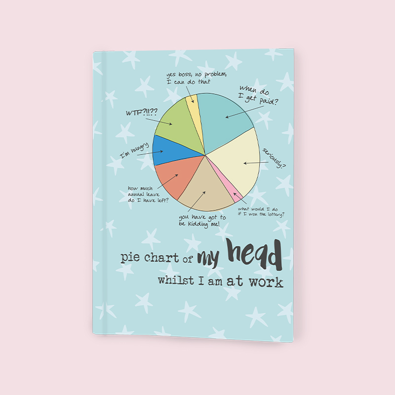 Notebook Jotter Dandelion - Pie Chart 6243