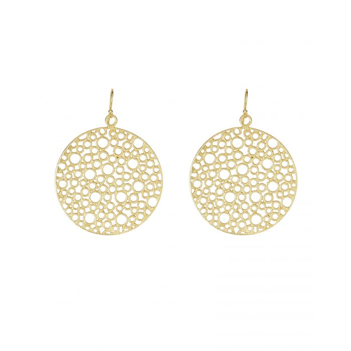 Ashiana Earrings - Gold Bubble