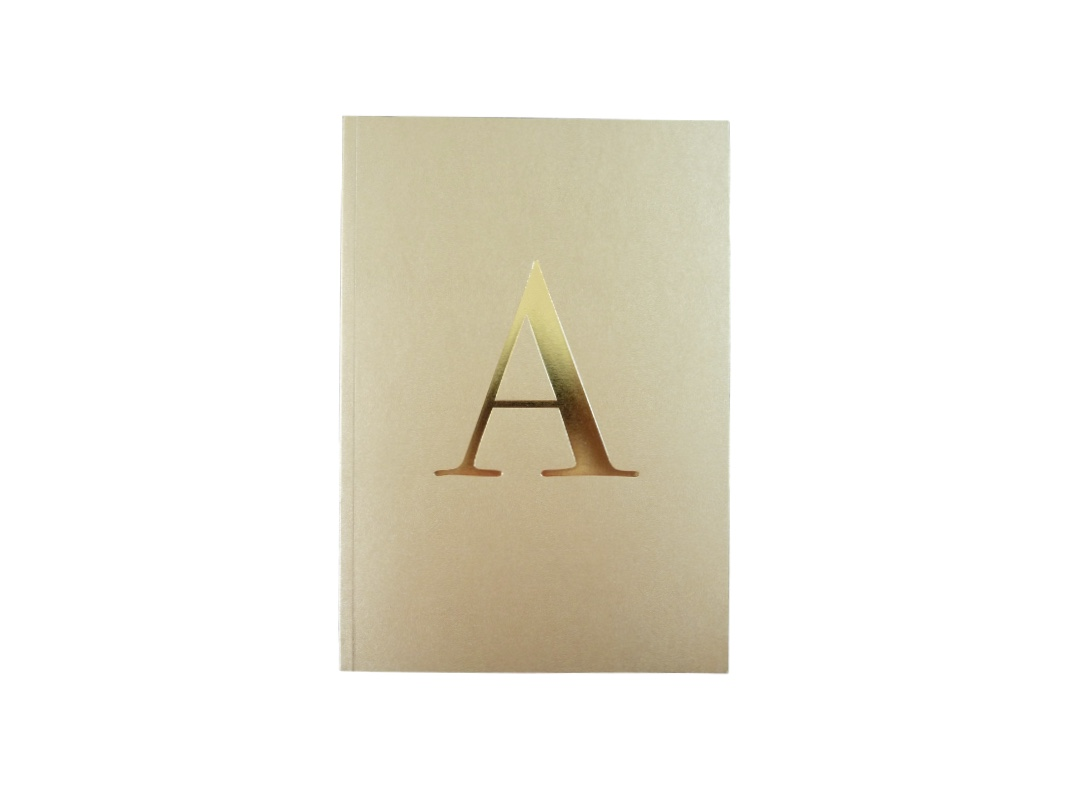 Alphabet Notebook - Gold A-Z
