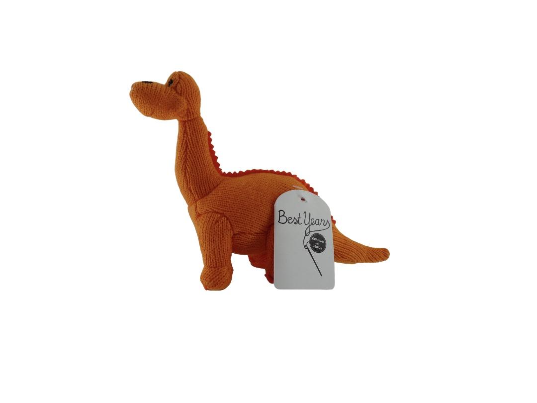 Dinosaur Rattle - Diplodocus Orange
