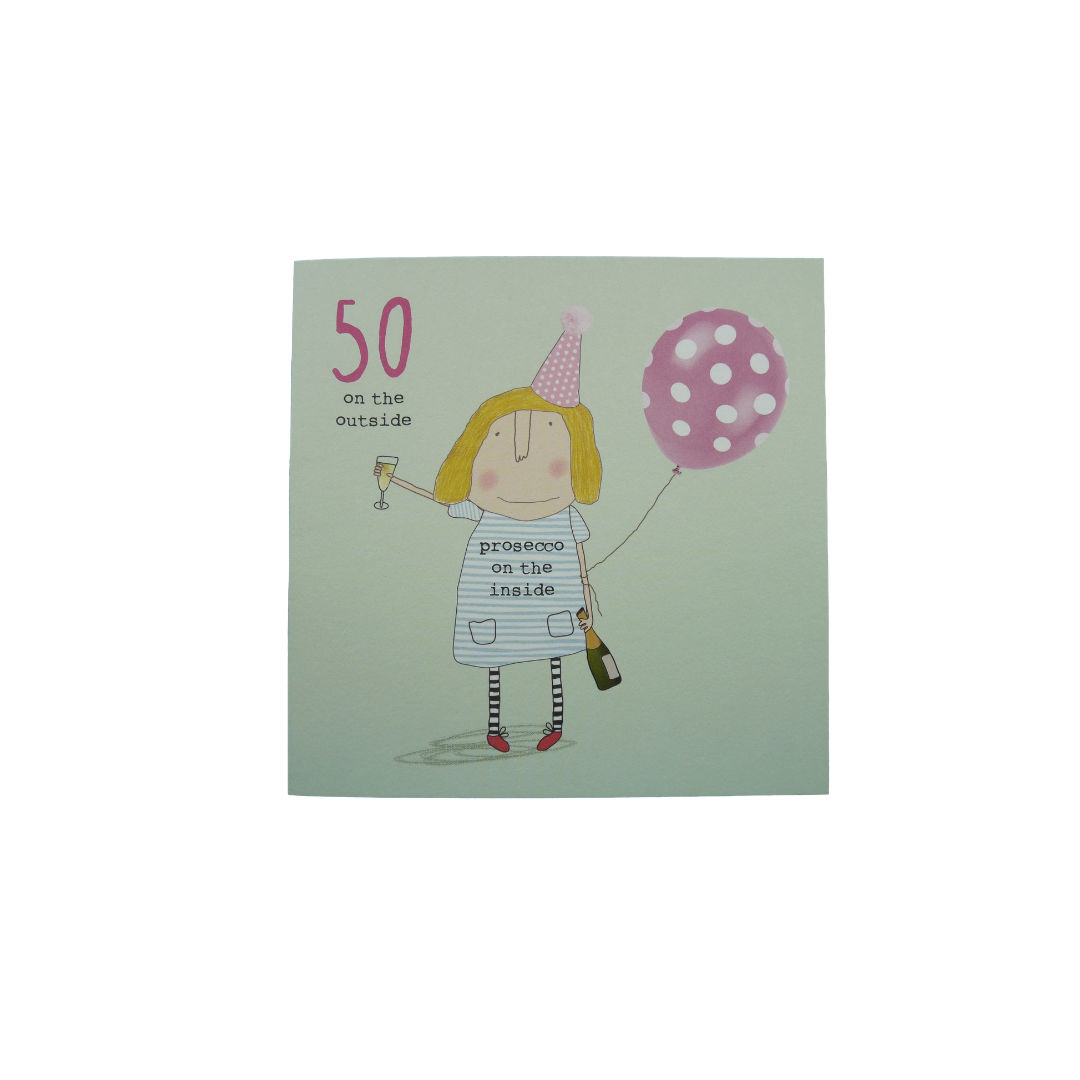 Card Age 50 Female - 50 on the Outside - Rosie  40-50
