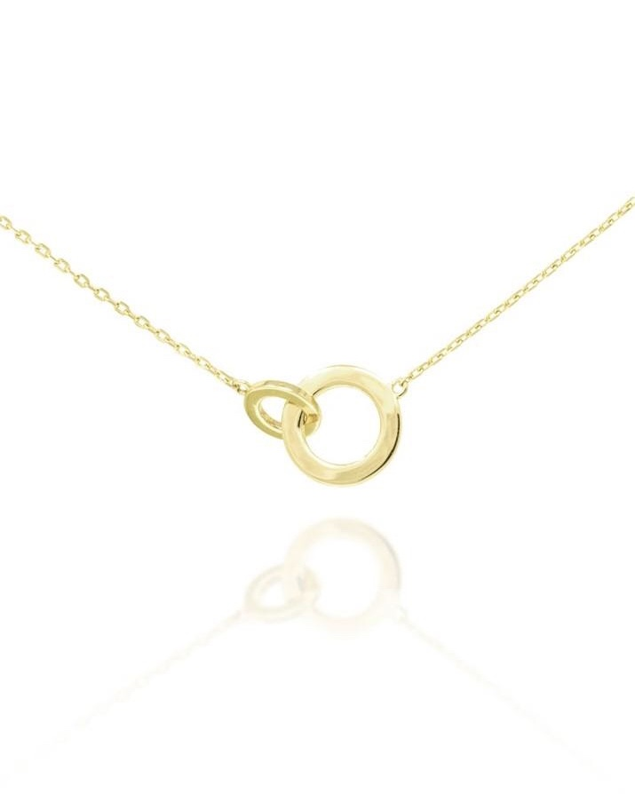 Connected Circle Necklace - Gold Plate on Sterling Silver NG-2/G