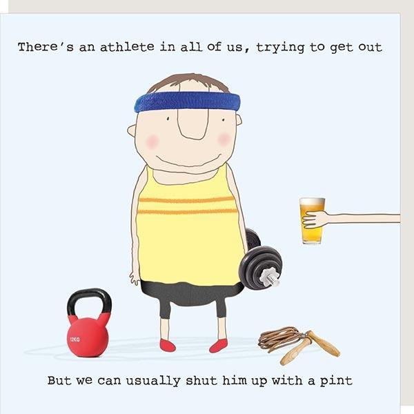 Card Male Rosie - Athlete Pint - 227